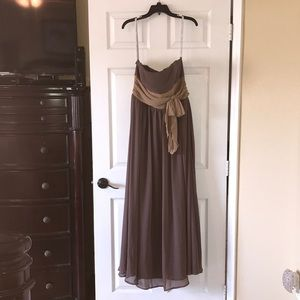 Alfred Angelo Chiffon Brown & Harvest Gold Dress